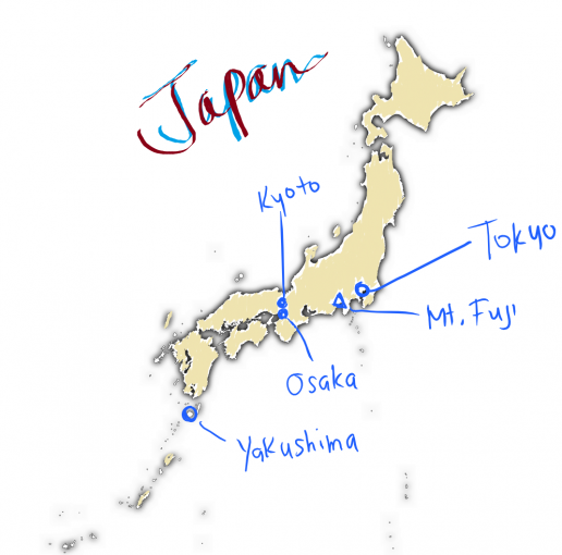 Where will we be in Japan?